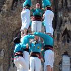 Castellers in front of the Sagrada Familia Bascilica
