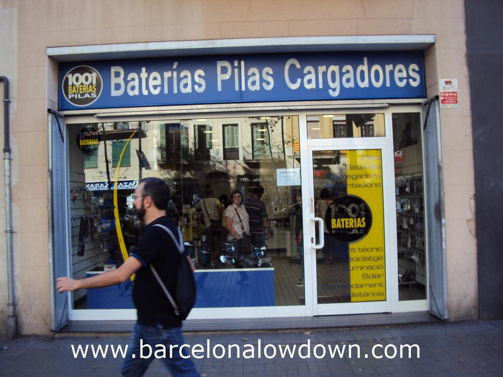 Outside 1001 Baterias on Ronda de Sant Antoni