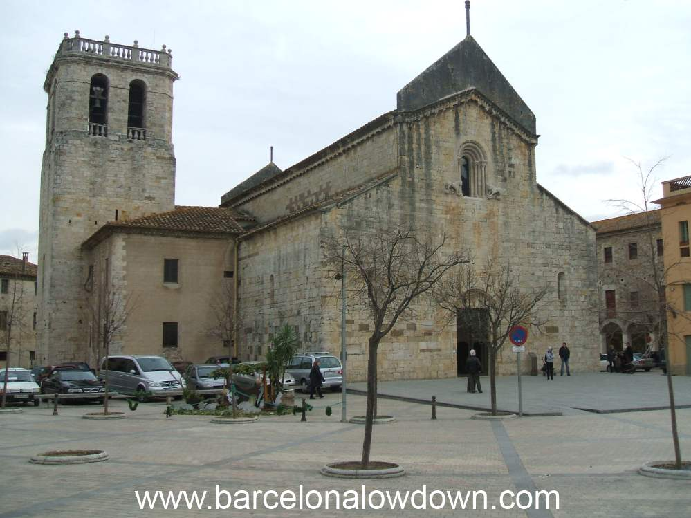 Medieval Monastery and town square in Besalu, Catalonia