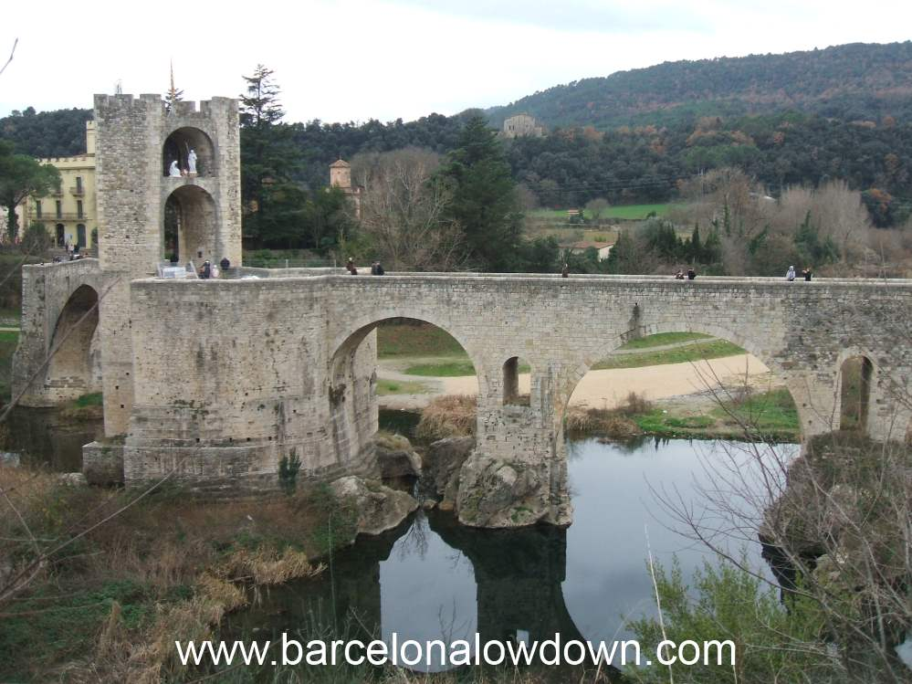 The 11th Century Medieval Stone Bridge at Besalú