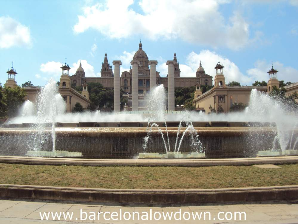 The Magic fountain and the MNAC museum Montjuic Barcelona