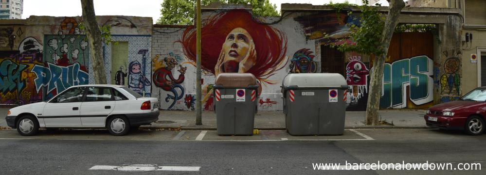 Awesome paintings on a street in Barcelona