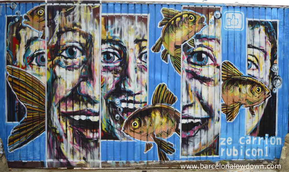 face and fish painting by rubicon 1 Barcelona