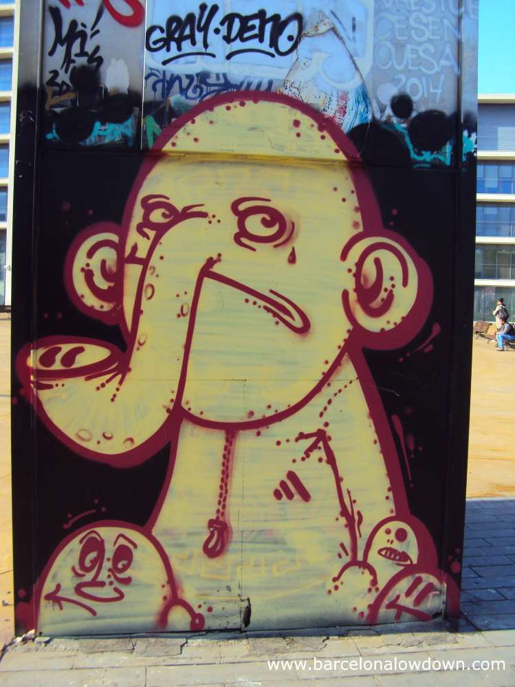 Unhappy elephant in Barcelona