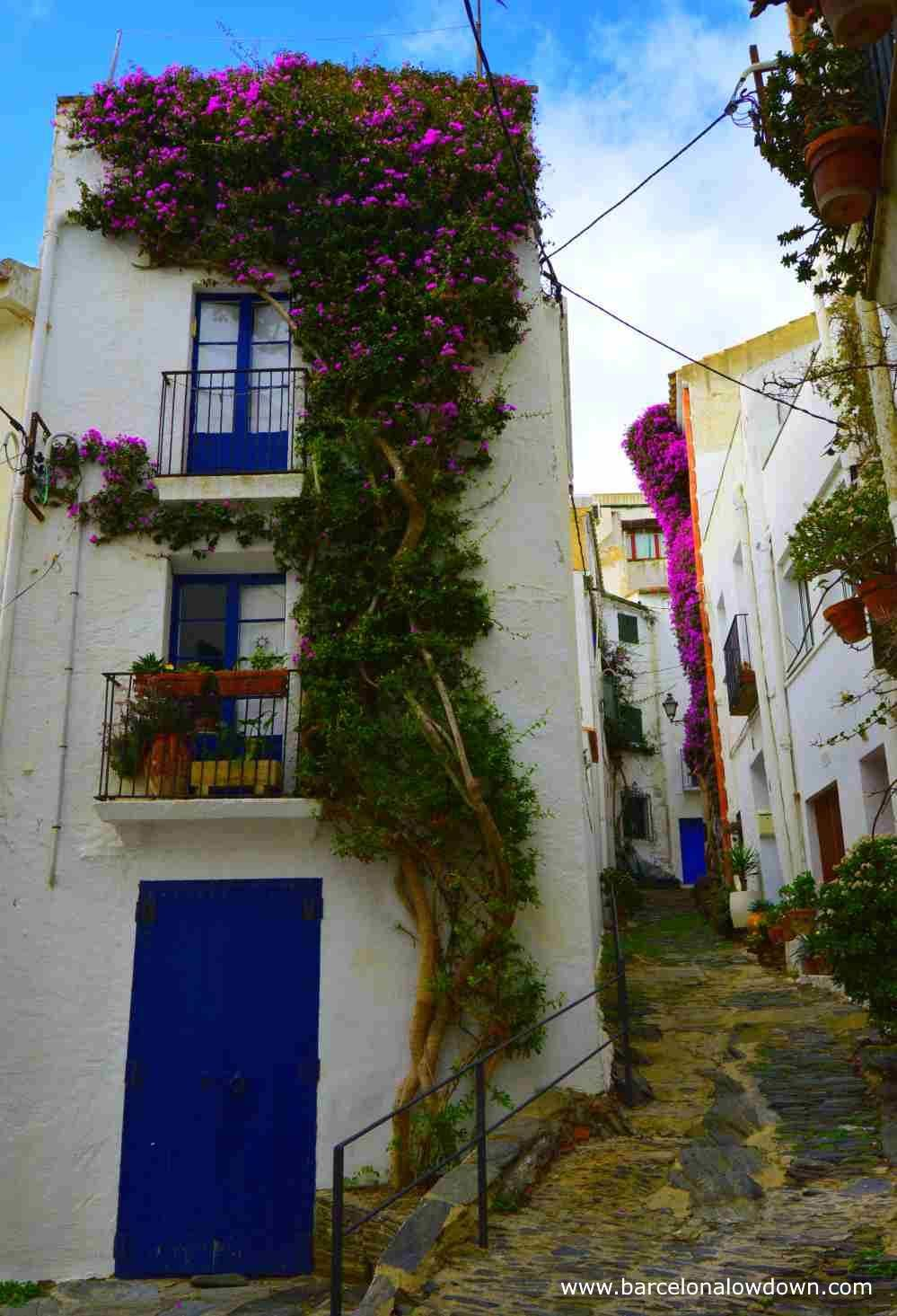 Narrow streets in Cadaqués, Spain