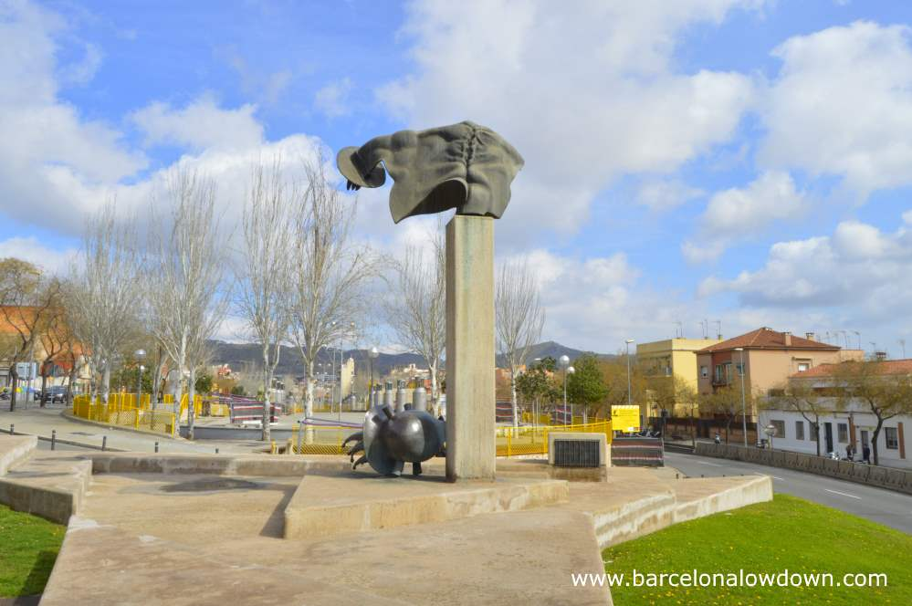 The monument to the international Brigades in the El Carmel neighbourhood of Barcelona depicts David and the severd head of Goliath lying at his feet
