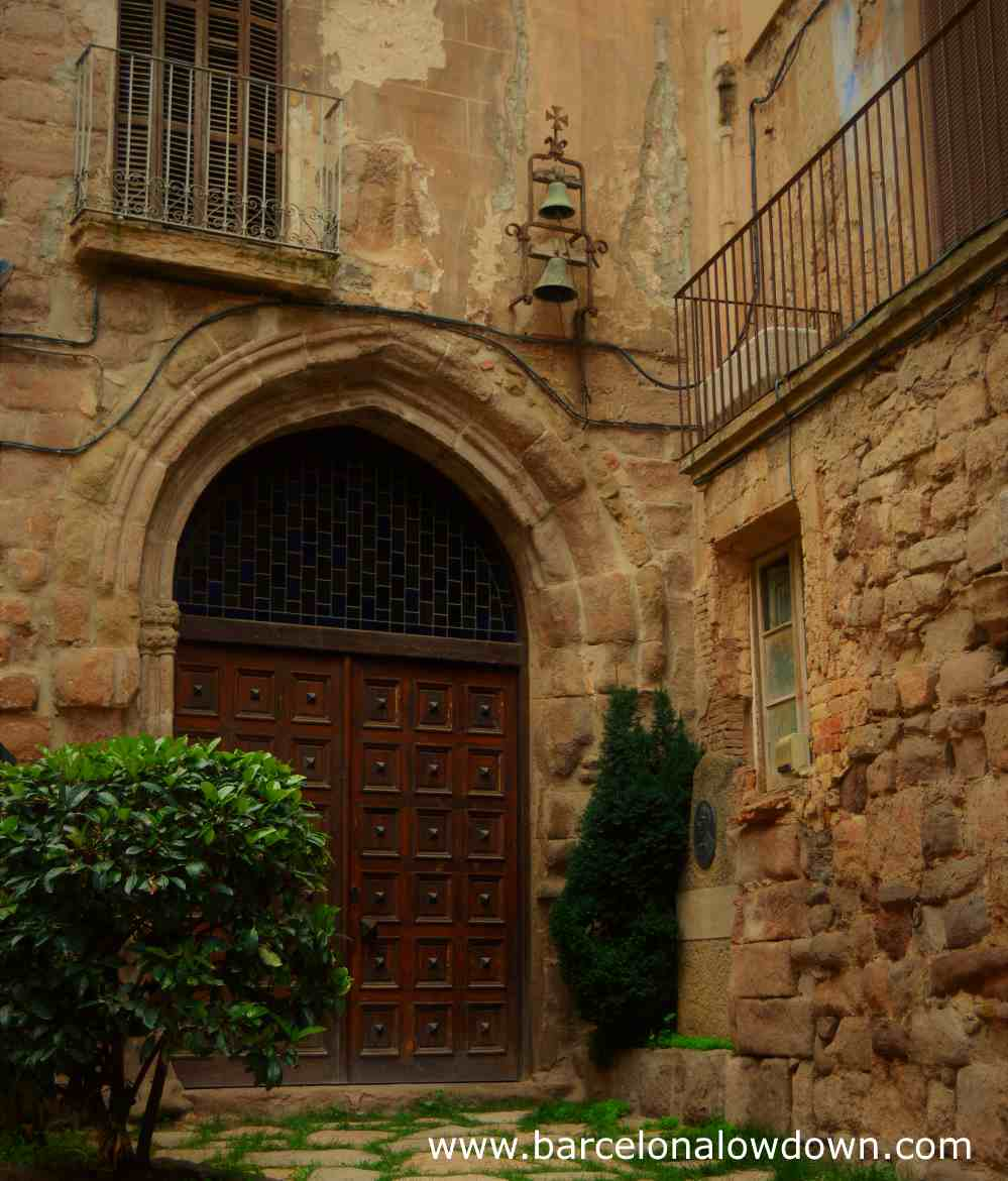 Entrance to the Chapel of Santa Eulaliain Cardona historic medieval town centre.