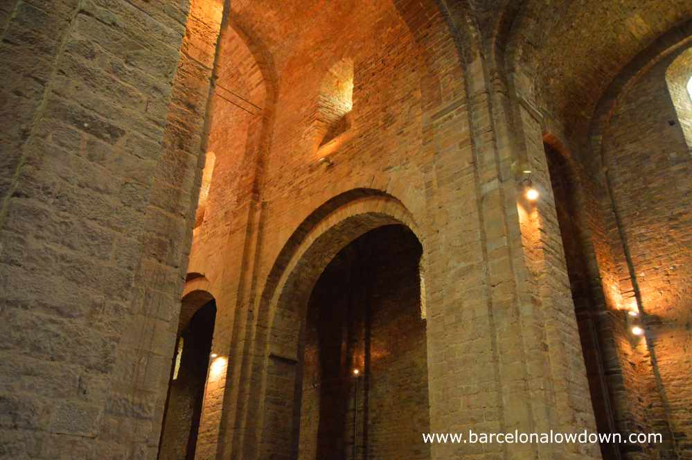 Inside the Romanesque church of Sant Vicenç which was built during the 11th century by the dukes of Cardona
