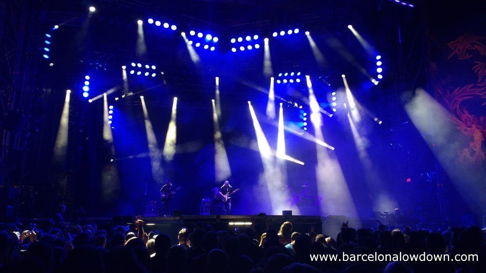 Spanish rock legend Rosendo performing live at the Barcelona Rock fest
