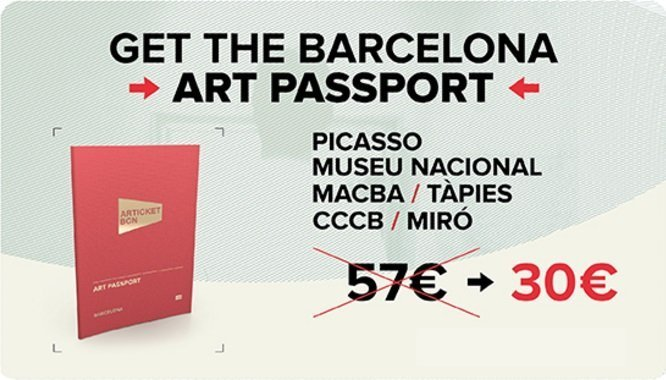 Articket Bfarcelona discount coupon for the Picasso Museum, MNAC, MACBA, CCCB, Miró foundation and Antoni Tapies, Barcelona