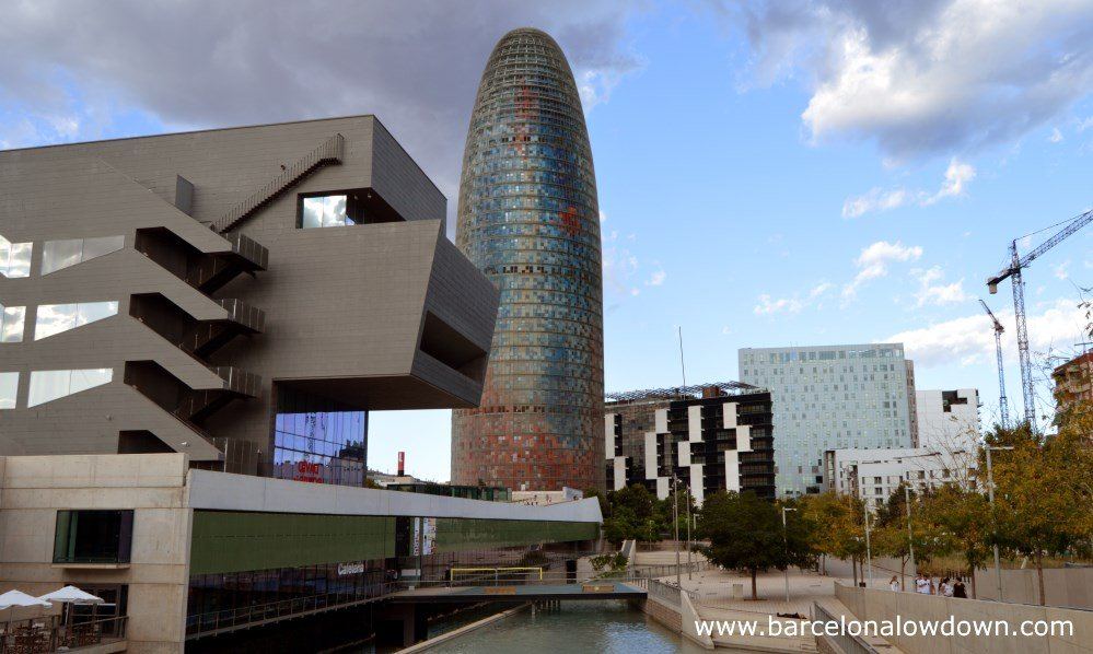 The Agbar Tower and other skyscrapers in Barcelona's Poblenou neighbourhood